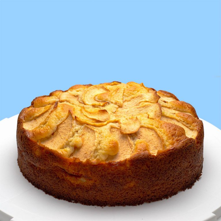 Apple cake - side view