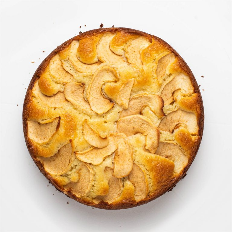 Apple cake - top view